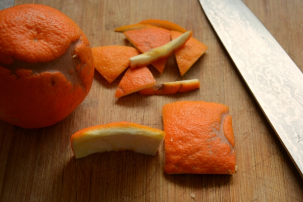 seville orange peel preparation