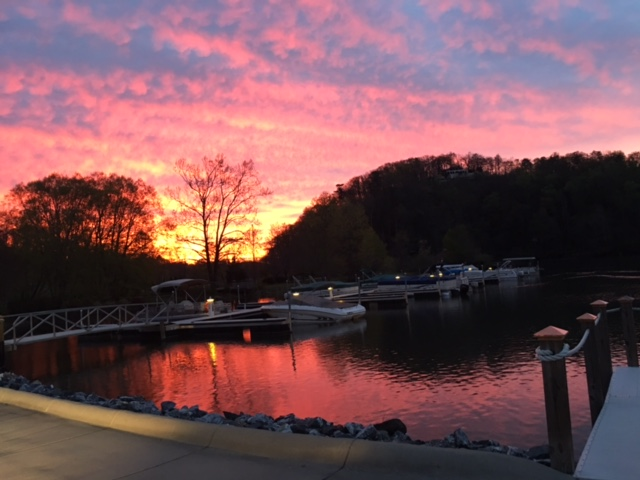 Tara took this outstanding photo of the sunrise from Washburn Marina.  This is where I pick up most of my guests.