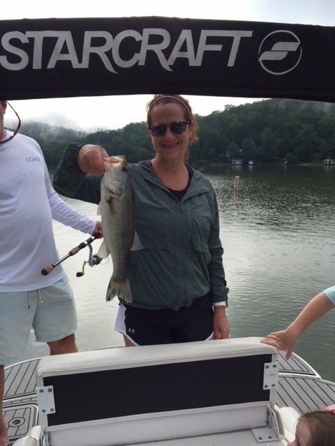 Here is Donna with a nice largemouth.