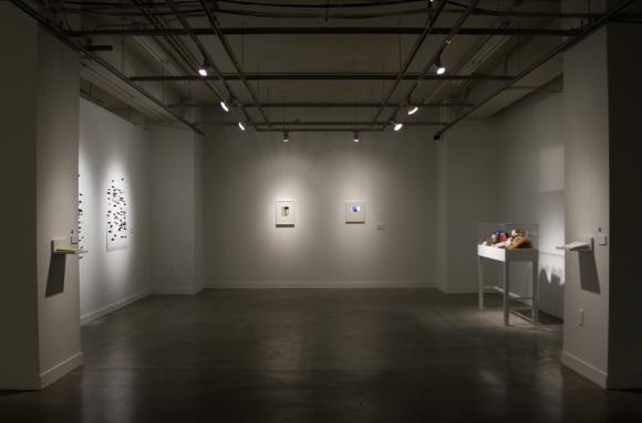 MFA thesis exhibition layout at Urban Arts Space, Columbus, Ohio