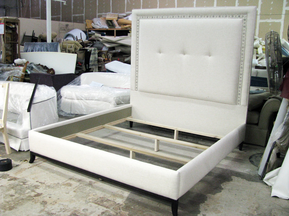 Headboard and Upholstered Bed Frame