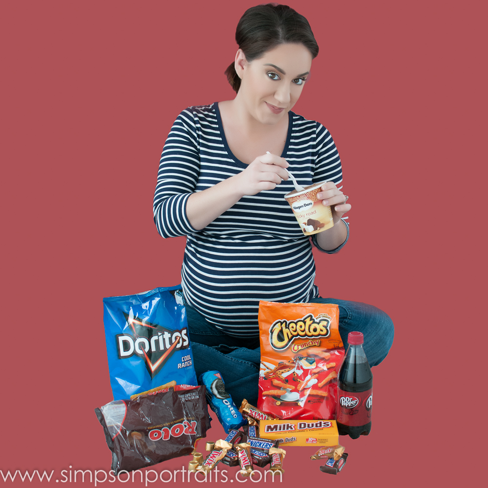 Los Angeles Fun Junk Food Maternity Photography Picture