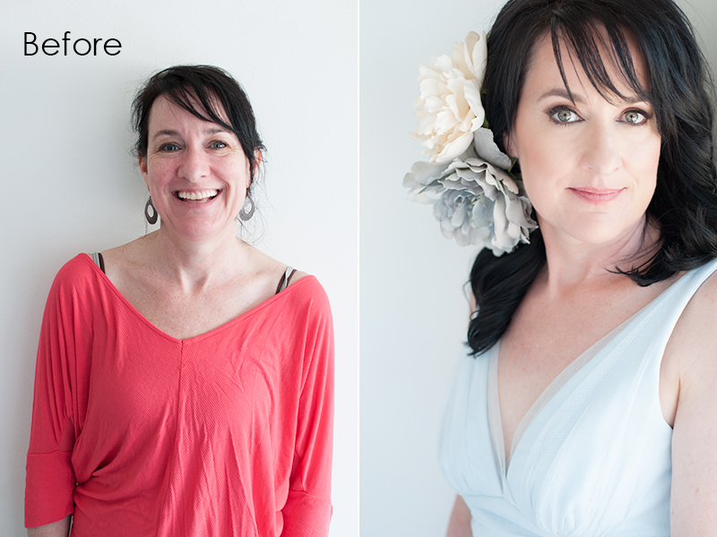 Before and After beauty portrait photography Los Angeles