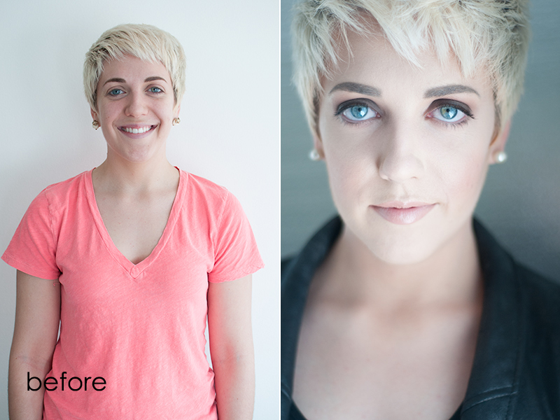 Before and After Actor Headshot