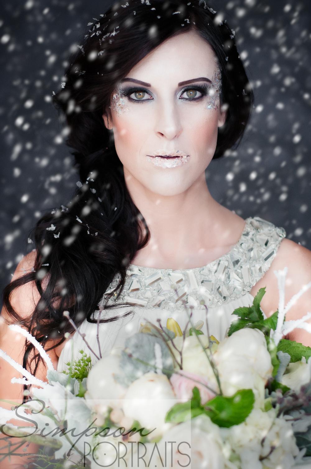 Ice Princess Bridal Couture Portraiture Los Angeles