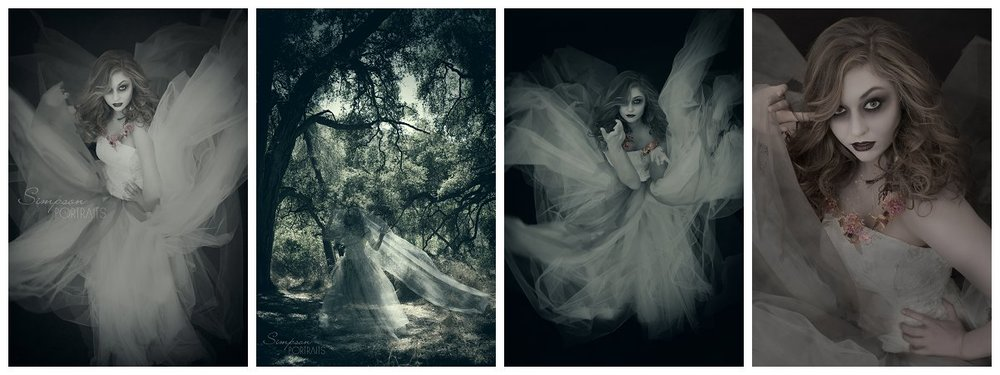Ghost Bride Halloween Photography Los Angeles