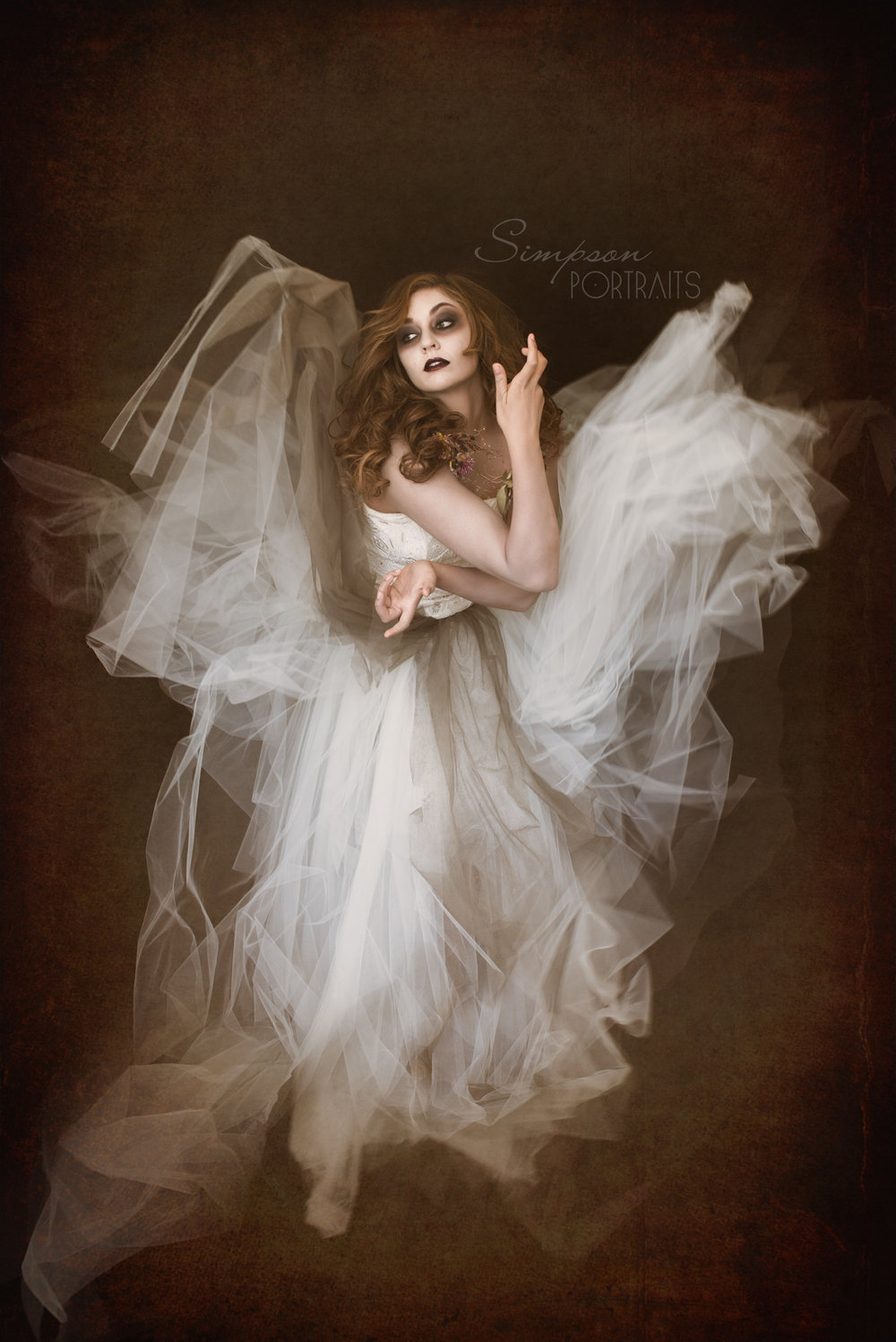 Eerie romantic ghost bride