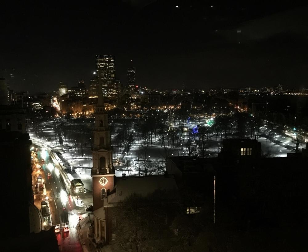 Park Street Church & Boston Commons at Night