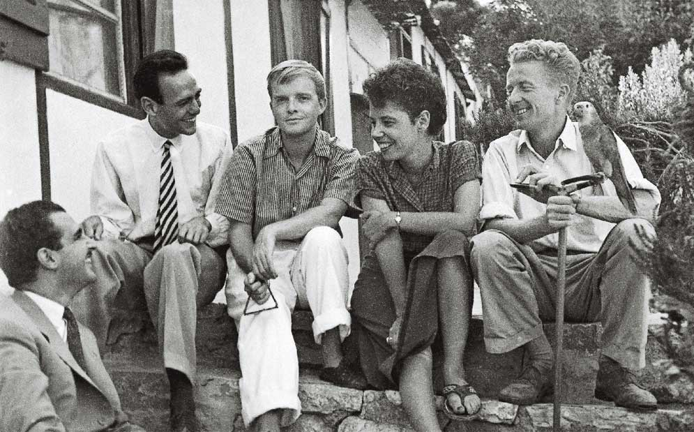 Paul and Jane Bowles with friends in Bali