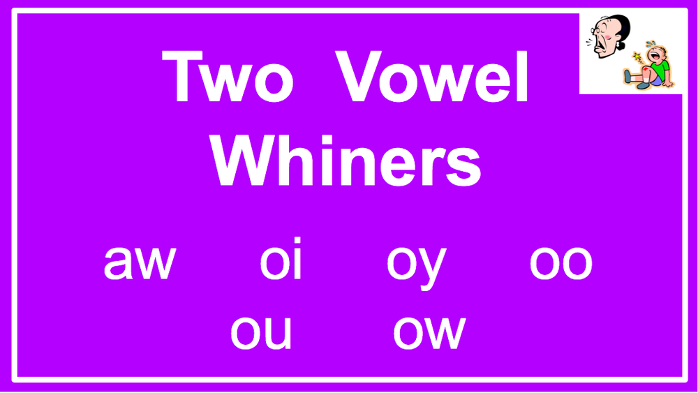 Two Vowel Whiners — Reading Resource