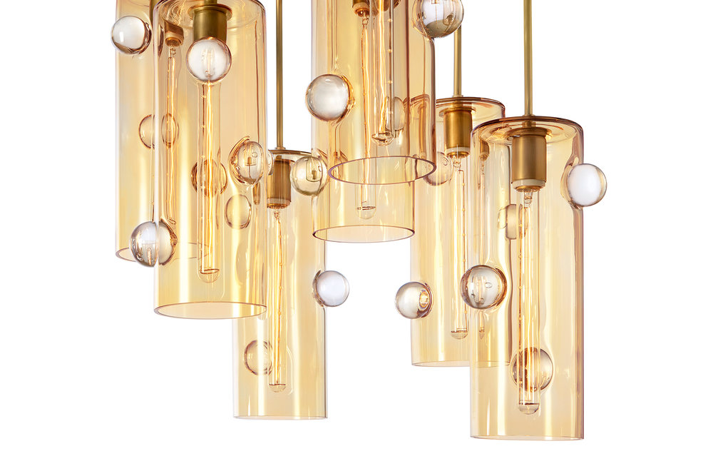 Obscura Cascading Chandelier - With 7 Pendnts