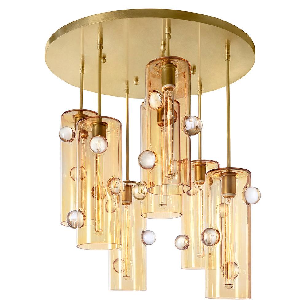 Obscura gallery eidos glass obscura seven pendant chandelier arubaitofo Gallery