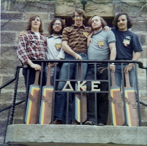 Spring '72 Pledge Class - Mark Brutsche; John Loesch; Gary Vineyard; Bill Vassaly; Pete Waller