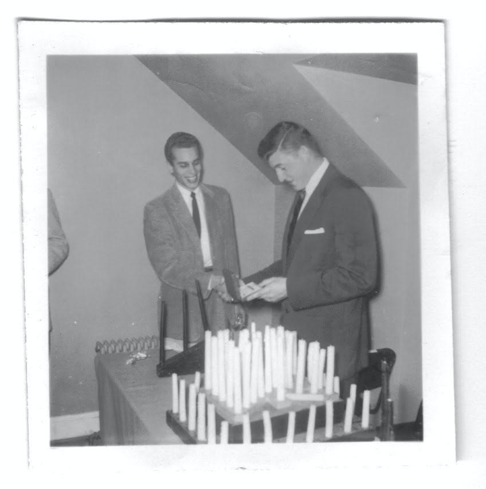 President Dale Wheatly presiding over initiation ceremony in 1953