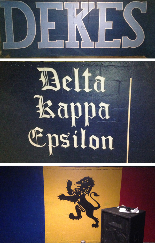 The DKE basement was given a facelift in 2013 when the retaining walls were painted by our sweetheart Casey Davis