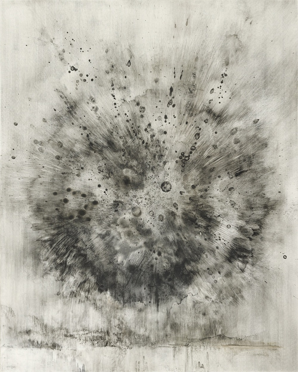 "breath and cinder   charcoal powder on clayboard  20""x16""  2012  private collection"
