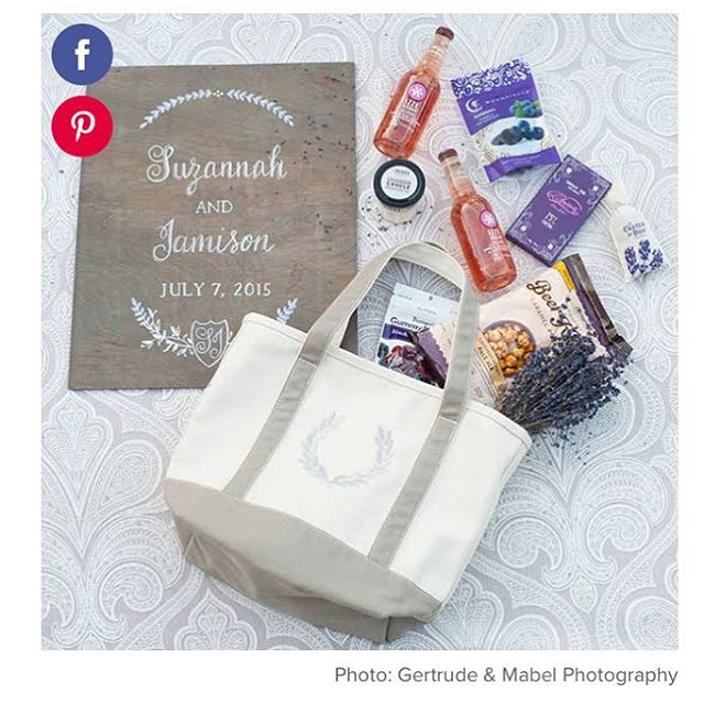 #Embrace the splurge & pack your #welcomebag with panache!  Fun tips up on @bridesmagazine blog today with our 📷 & advice from our good friend Amy of @amynicholsse - click on bio for more #weddinginspiration  Photo by #gertudeandmabelweddings  Design by #amynicholsspecialevents