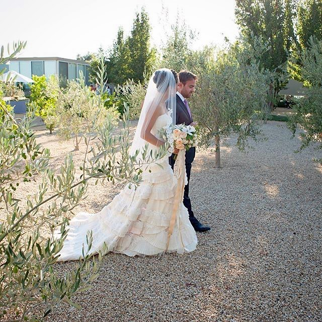 Repost from @lauriearons ; Clare and Drew just married. 📷 @gertrudemabel  @katiecolosilase  @flowerwild #napawedding #weddinginspiration #lazarobridal