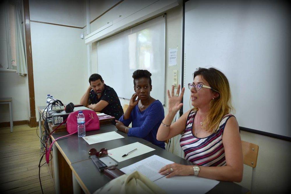 fotografia de Paulete Matos (esquerda.net) Esquerda para a direita: Paulo Sousa, Ana Sofia Fernandes, Soraia Simões