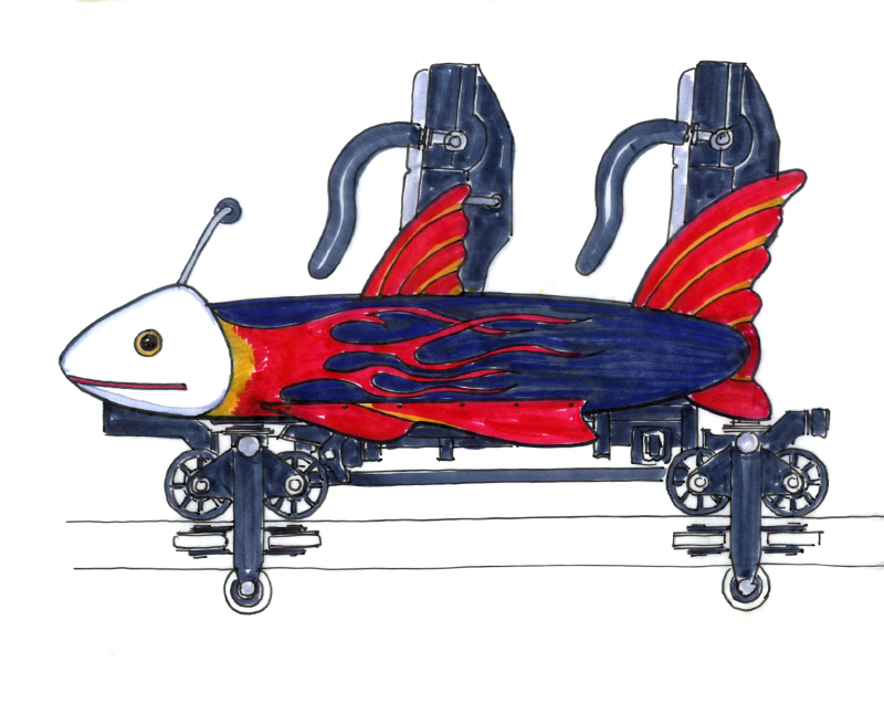 Boardwalk coaster flying fish 02 3528653289[K].JPG