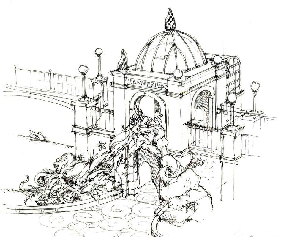 Hammerhead Ride and Mermaid Fountain