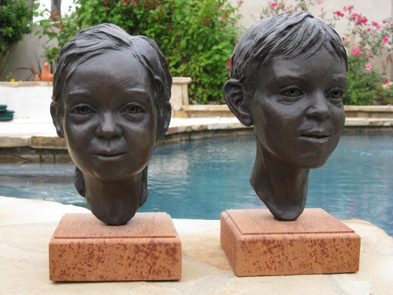 My Kids in Bronze