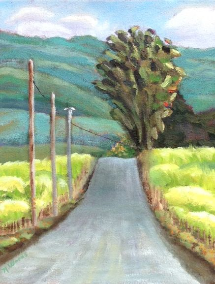 Spring Mustard in Country, Oil Painting.jpg