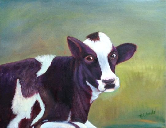 Cow Holstein, Oil Painting.jpg