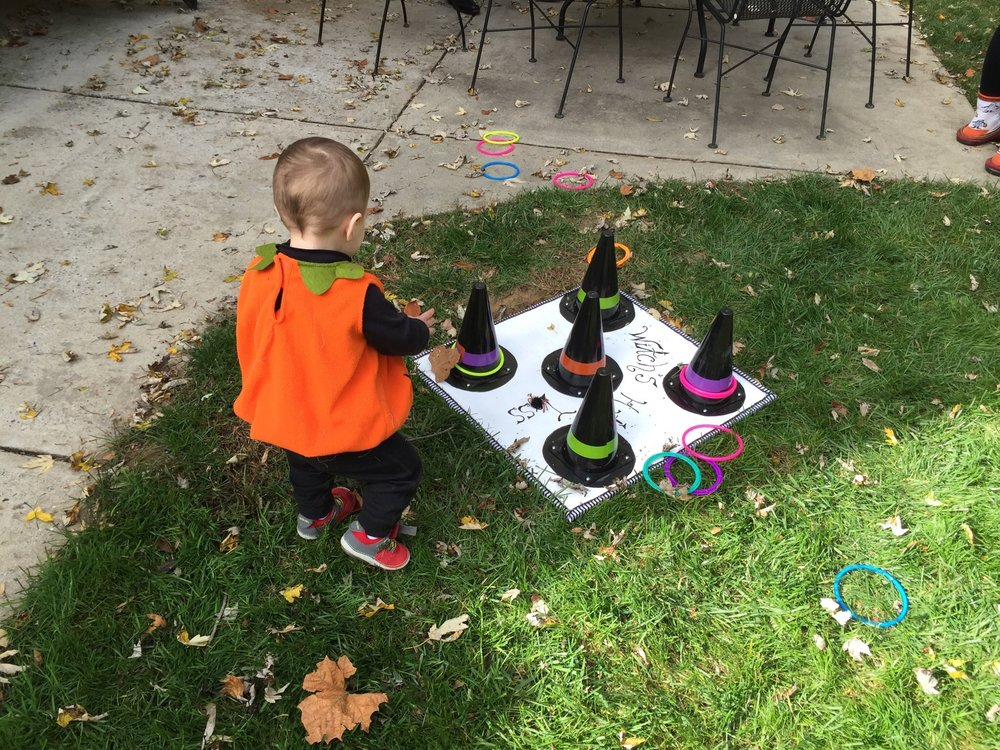 Witch's hat ring toss....T really liked this game a lot.