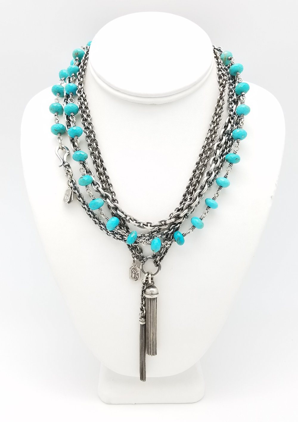 I have many pieces available this year as well as some great sale items. Take a look at the Kary Kjesbo Designs Signature Line necklaces with tassels and turquoise