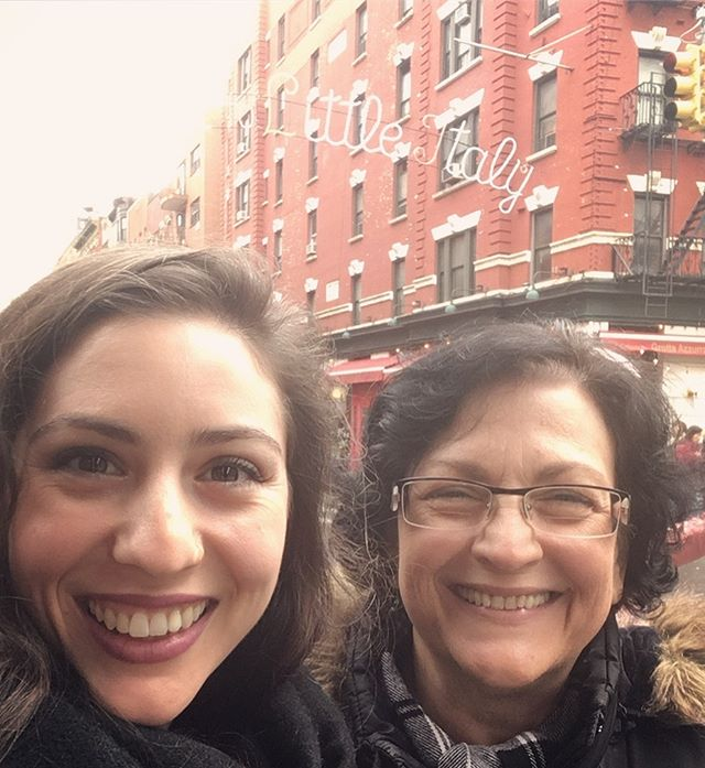 Mama and me in Little Italy. ♥️🇮🇹🍝🎂🍷⛪️♥️