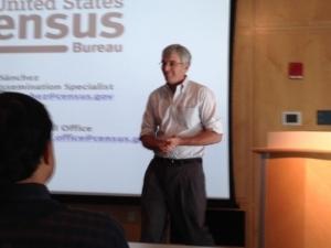 PMA President John Marshall addressing attendees at U.S. Census Bureau workshop
