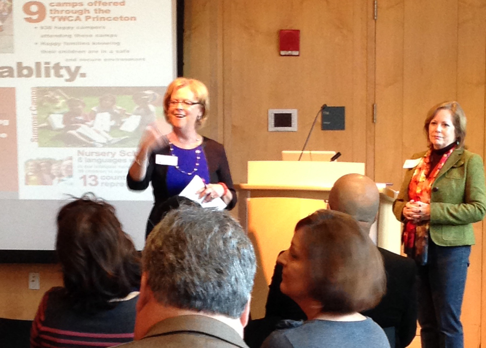Judy Hutton, CEO and Nancy Faherty, Director of Advocacy & Development, YWCA Princeton
