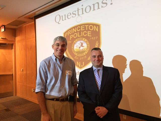 John Marshall, PMA President and Nick Sutter, Princeton Police Chief