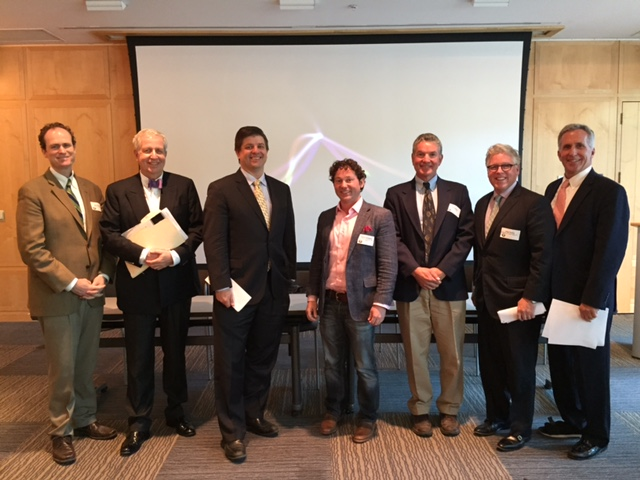 2015 Real Estate Panelists: Jud Henderson, Callaway Henderson Sotheby's International Realty; David Newton, Palmer Square Management; Josh Zinder, Joshua Zinder Architecture + Design;   David Germakian, EDENS; Jack West, Princeton Planning and Zoning Board; Peter Dodds, Morford & Dodds Realty; Jack Morrison, JM Restaurant Group