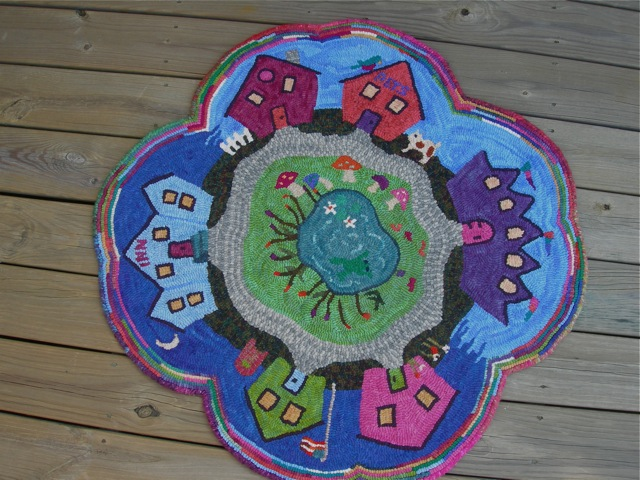 """Lucy's Fairy Village"" rug pattern will be added to my Shop page soon."