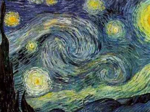 Detail of Vincent Van Gogh's  Starry Night.