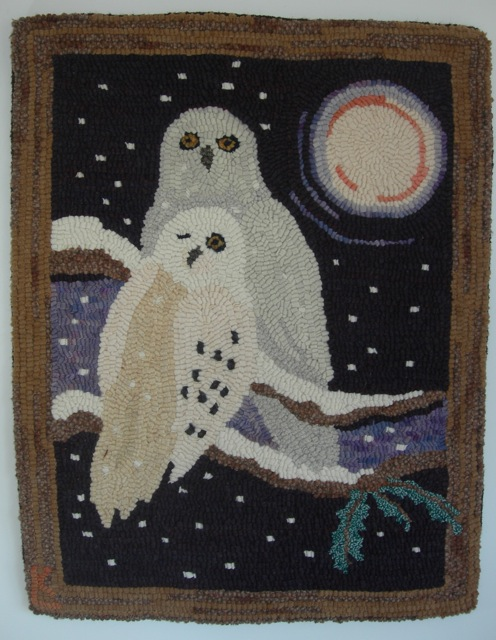 Not Quite White , the cover of Rug Hooking Magazine Nov/Dec 2012