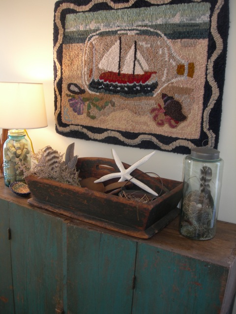 Ship in a Bottle, is the only summery rug I still own.