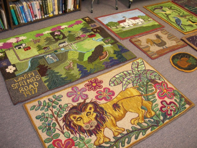 "Some of our ""throwdown"" rugs.  We did ourselves proud!"