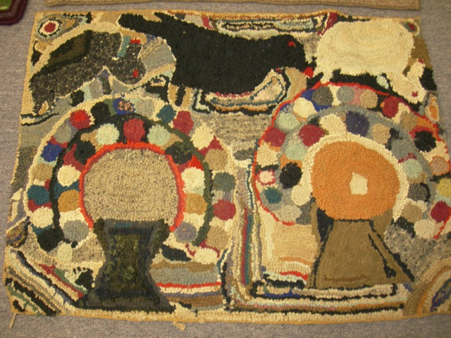 Magdalena Briner Eby's descendants brought one of her rugs for us to admire.