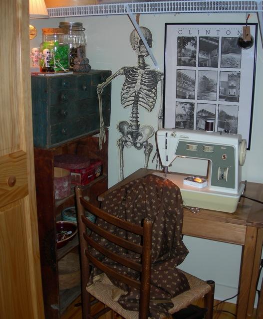 My sewing closet.