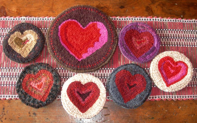 Some mug mats and a teapot trivet.  I love hearts!
