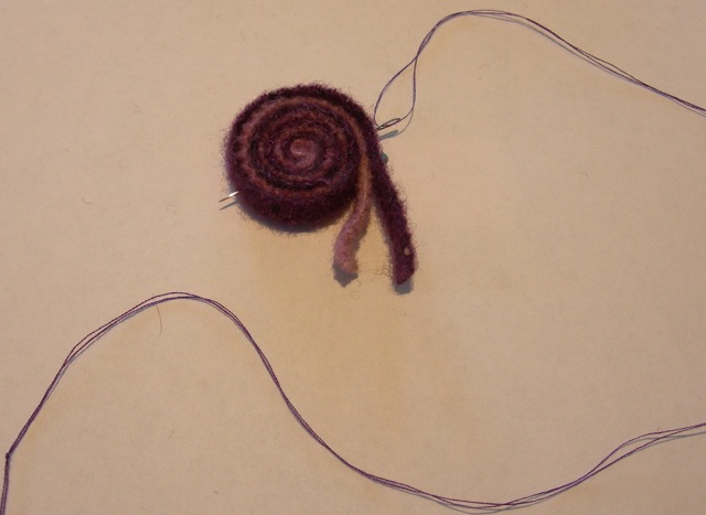 A quillie in progress.