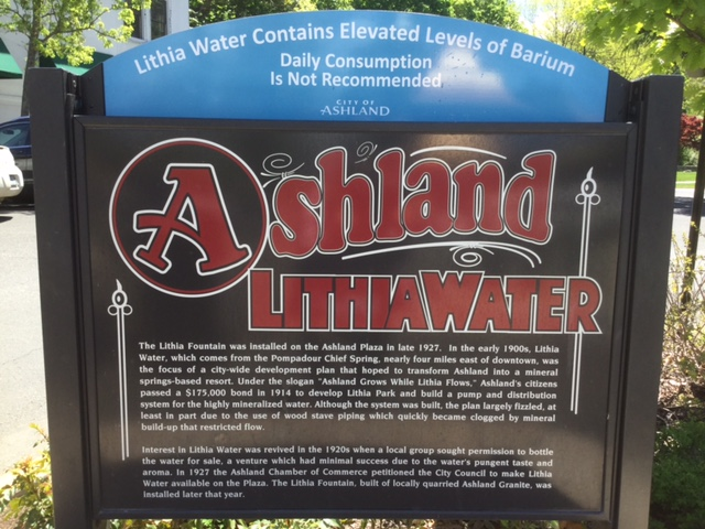 The town of Ashland is known for its natural lithia water springs. It does come with a warning, however.