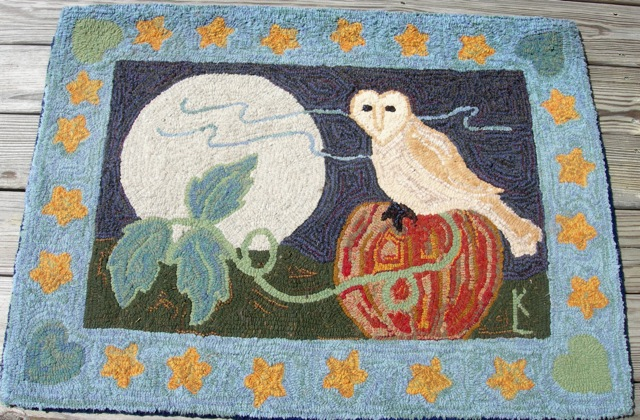 "Barn Owl With Moon  28"" x 38"""