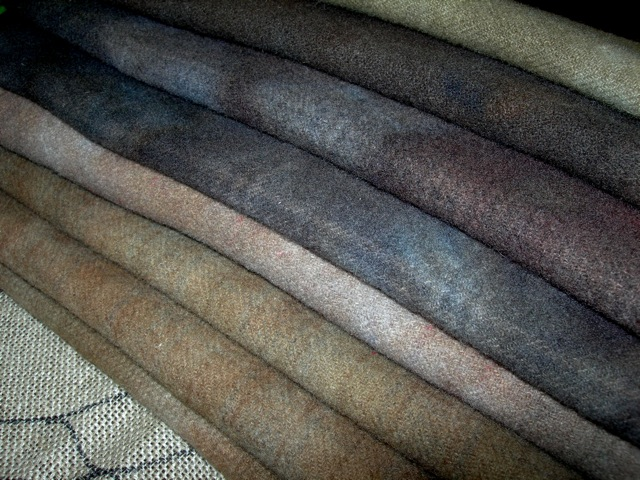 A collection of stoney wool for my tombstone angel rug.