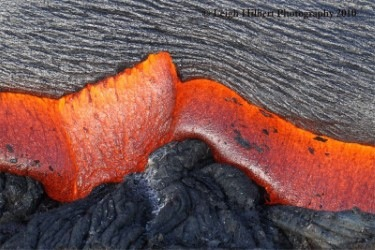 Image of Hawaiian lava © Leigh Hilbert