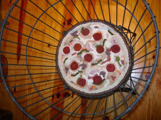 Pizza in a basket just for fun.