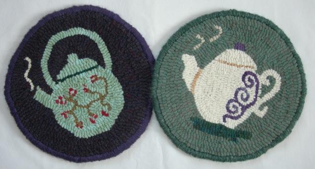 """Teapot Trivet Duo  10"""" diameter each"""